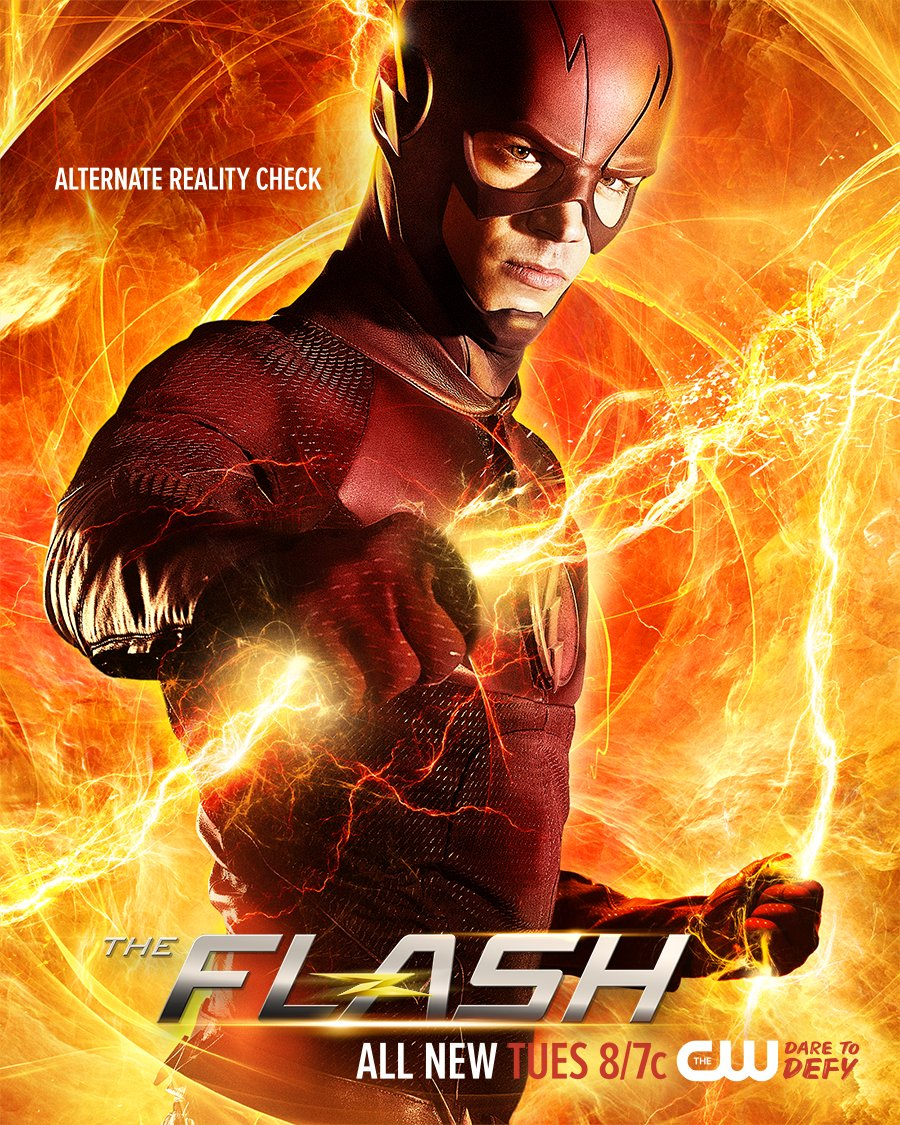 Barry Allen Holds Lightning In New Flash Poster